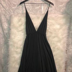 Reformation Strapless V-Neck Midi Dress Size M